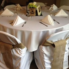 Events By Designer Chair Covers Dining Room Set Burlap And Sashes Photo Courtesy Of Our Friends At Bravo Event Party Rentals In Florence South Carolina
