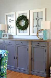 Window Pane Decor {How to Use Old Window Frames}