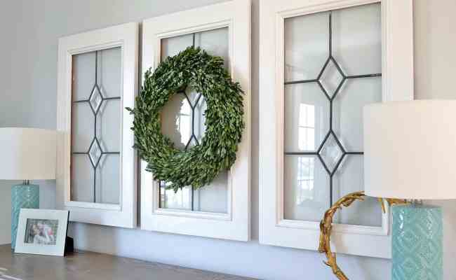 Window Pane Decor How To Use Old Window Frames