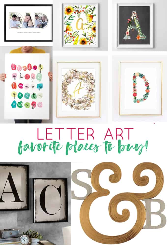 Letter Art My Favorite Sources For Personalized Letter And Name Art