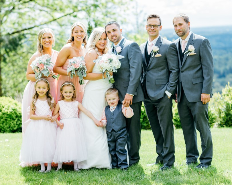Beautiful Couple with their entourage | Blush and Gray Wedding of Nicole and David