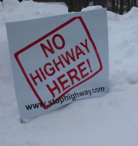 Signs like this were out on the back roads of Burlington days after the Coalition was formed.