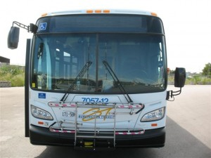 One of the new buses added o the Burlington Transit fleet. There were busses that had more than 15 years on their tires - those old ones certainly rattled down Guelph Line when I was on one of them.