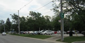 Lot 8 on Locust Street is closest to city hall. It serves people who meet at the Upper Canada location where Regus has been located for years.