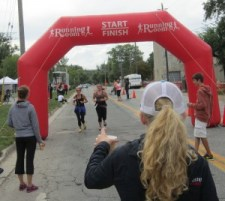 when you cross that finish line - a cup of water is real welcome. The Terry Fox organization in Burlington covers all the bases.