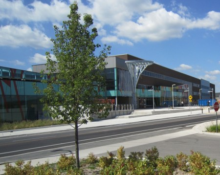 Hayden High school, Burlington's newest built as part of a complex that includes a Recreational Centre and a public library with a skate park across the street.