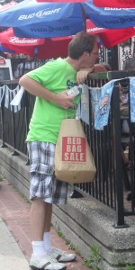 The downtown merchants have used special shopping bag promotions in the past. Last summer we all got to see BDBA General Manager Brian Dean in shorts that must have been on sale somewhere.