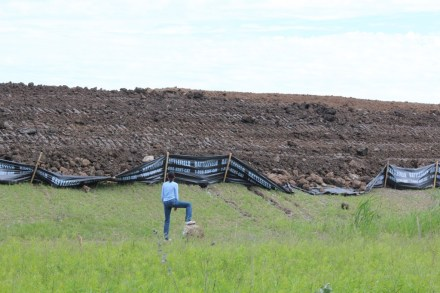 """There was nothing """"granular"""" about the pile of earth dumped on land yards away from an Appleby home. Three court cases and an appeal - Burlingtin was out hundreds of thousands in legal fees and the mountain of earth is still where it was illegally dumped."""