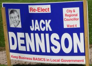 Election - Dennison sign