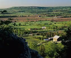 Halton escarpment - long view up slope