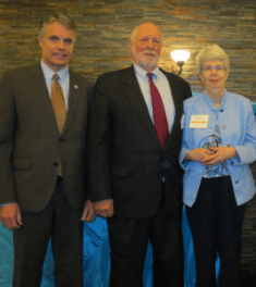 Linda McKay with Mayor and Searles