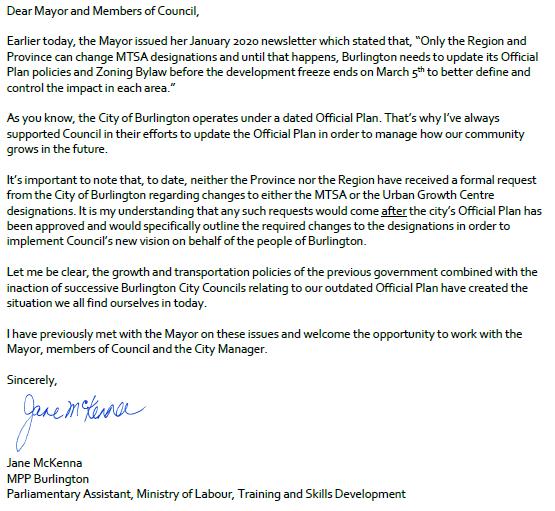 McKenna letter