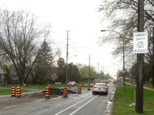 New street - being rebuilt