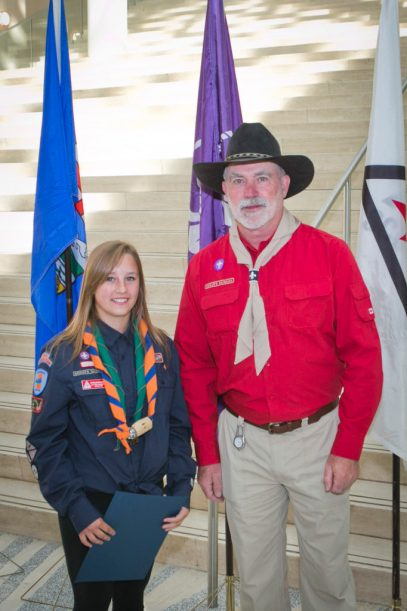 Scouts Canada - Mikhayla Doroshuk and Terry Grant Chief Scout