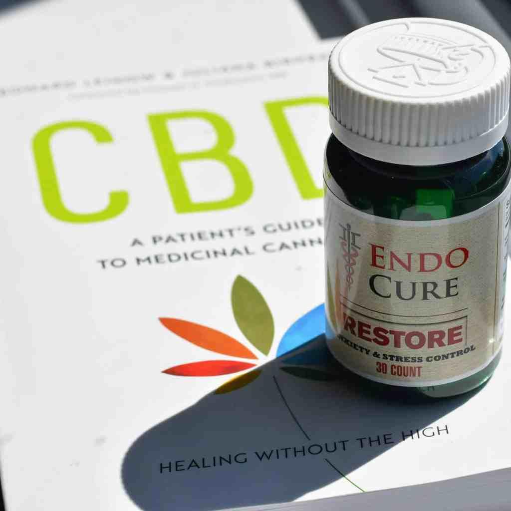 endocure restore bottle on cbd book