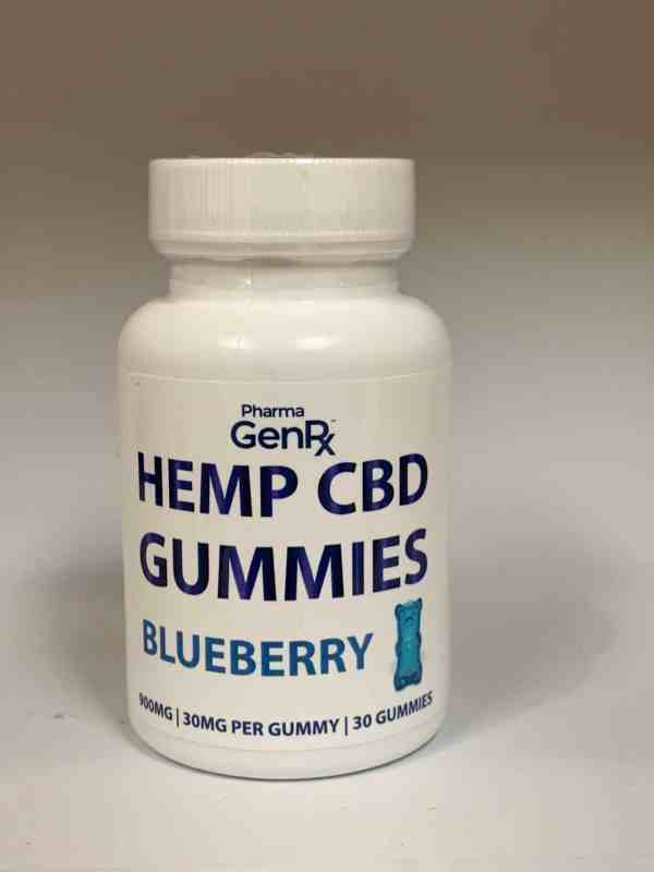 Pharma GenRX Hemp CBD Blueberry Gummies