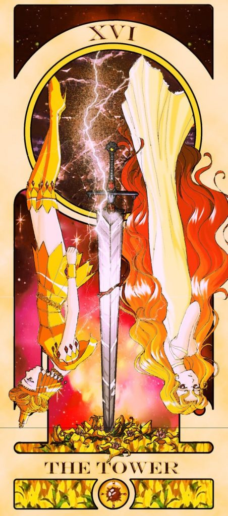 Essa ilustradora americana criou um baralho de tarô inspirado em Sailor Moon 22
