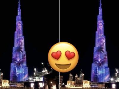 Vingadores: Ultimato iluminam o maior prédio do mundo em Dubai 15