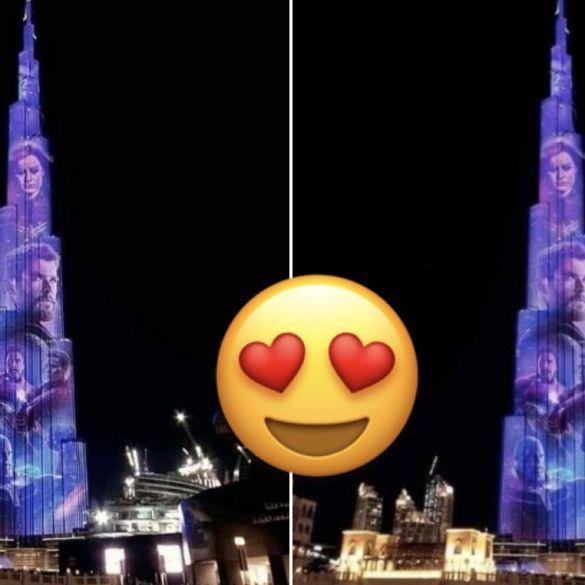 Vingadores: Ultimato iluminam o maior prédio do mundo em Dubai 16