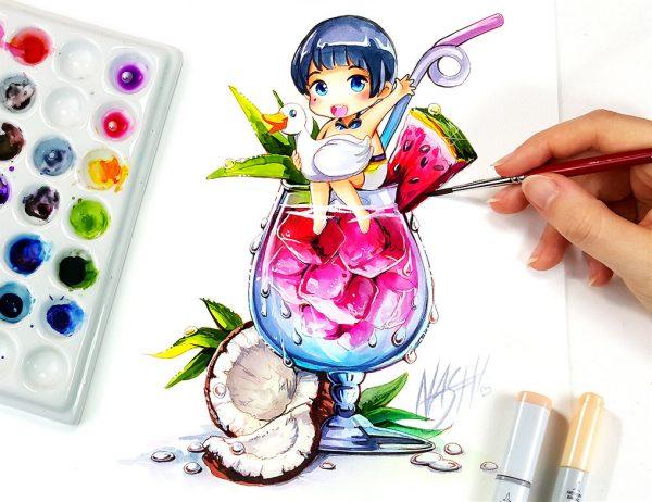 Artista desenha ilustrações fofas e geeks em versão Chibi 17