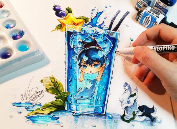 Artista desenha ilustrações fofas e geeks em versão Chibi 25