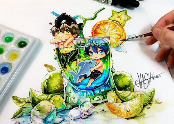 Artista desenha ilustrações fofas e geeks em versão Chibi 28