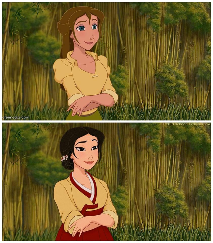 Princesas Disney com diferentes etnias 25