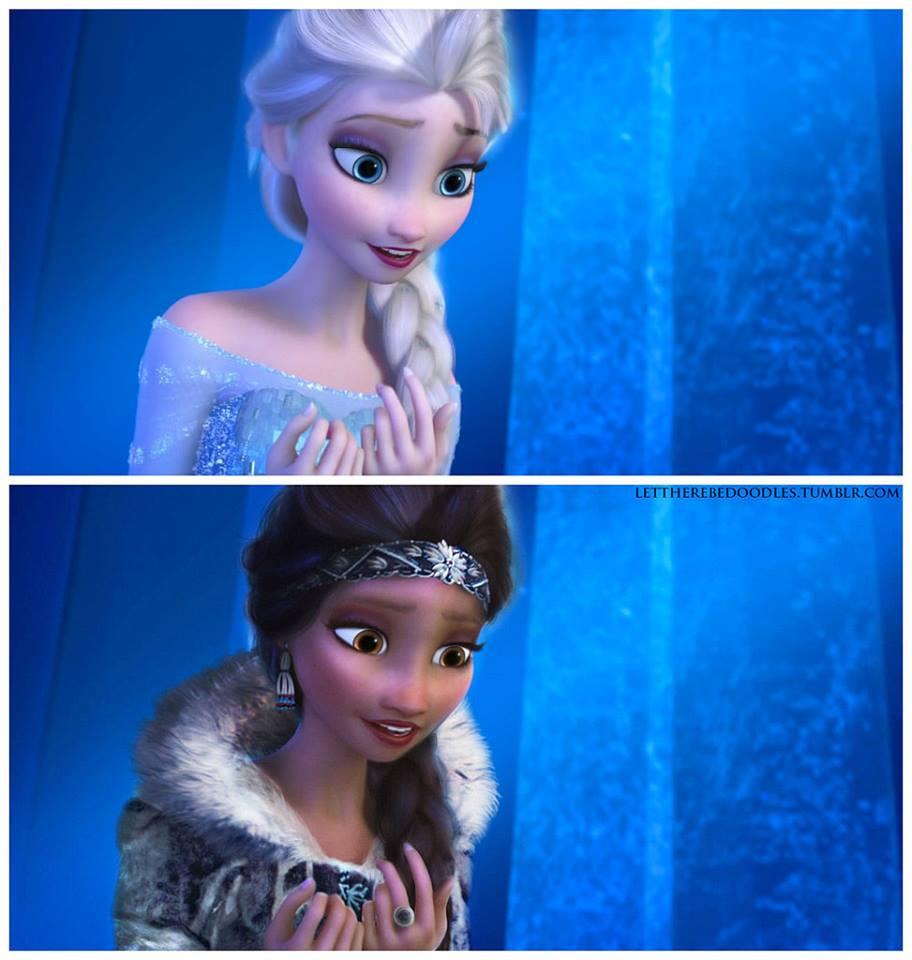 Princesas Disney com diferentes etnias 29