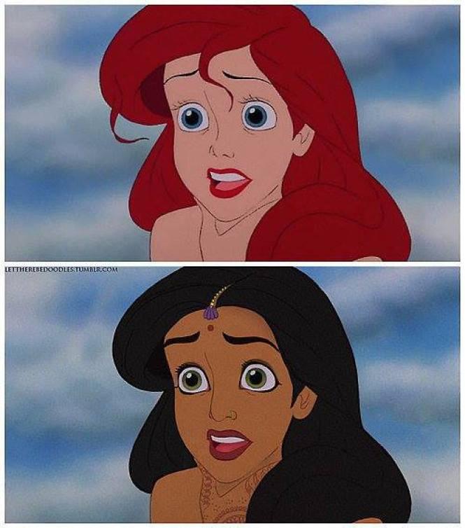 Princesas Disney com diferentes etnias 17