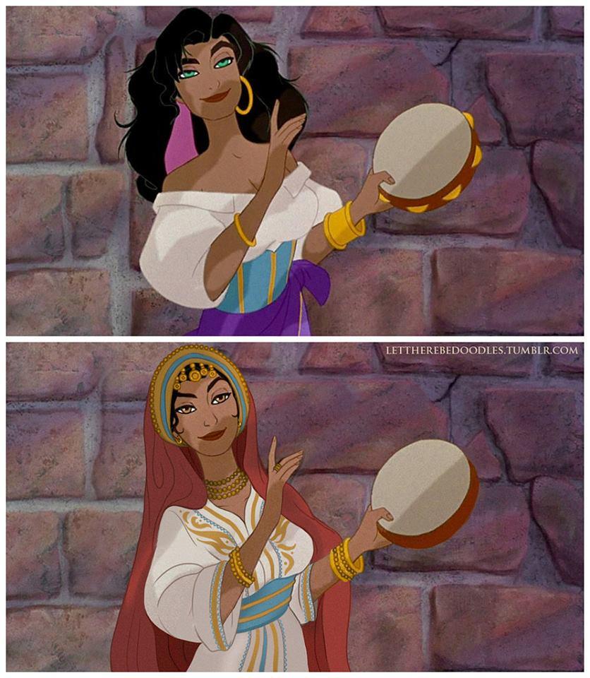 Princesas Disney com diferentes etnias 23