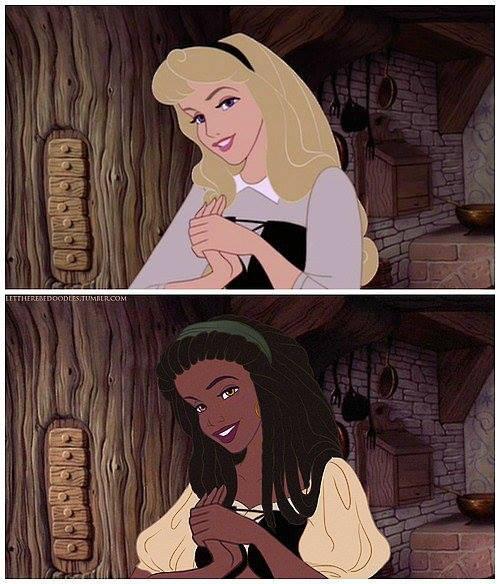 Princesas Disney com diferentes etnias 31