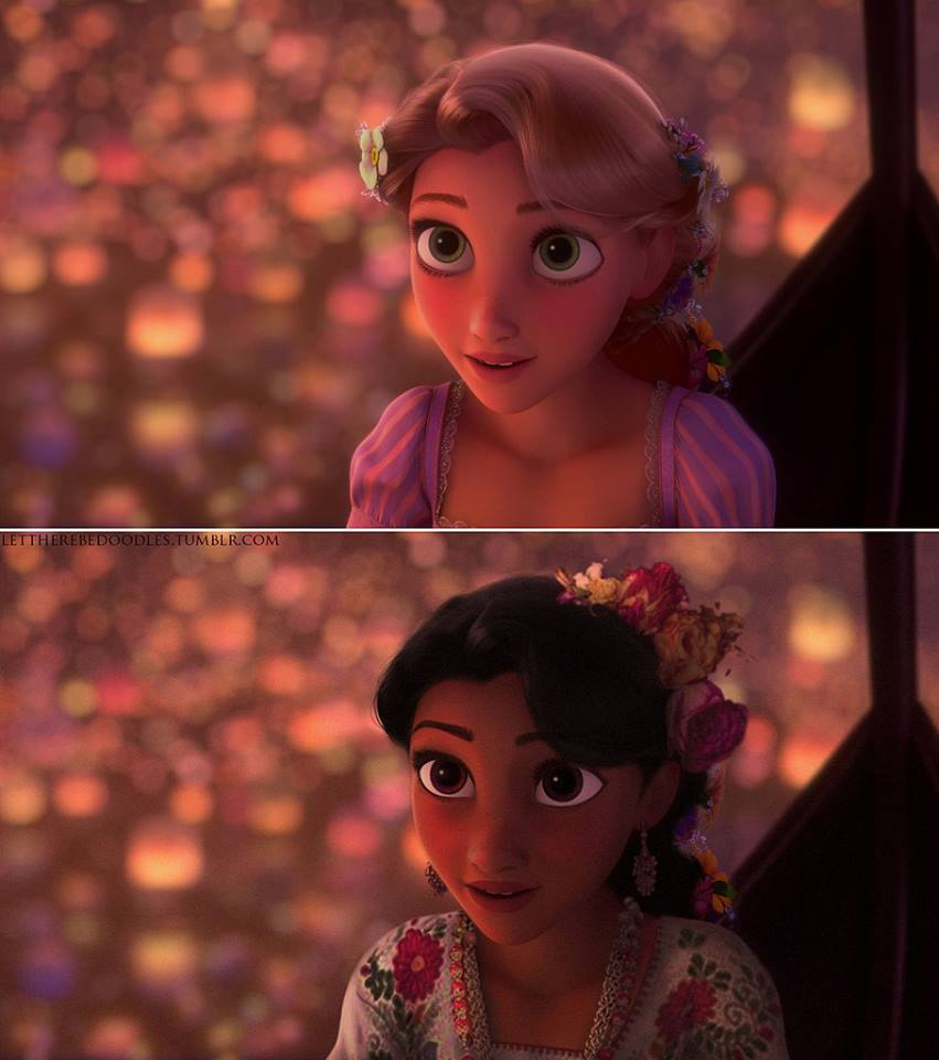 Princesas Disney com diferentes etnias 20
