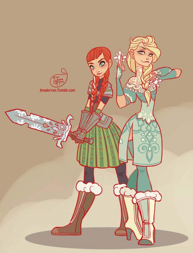 Princesas Disney guerreiras 23