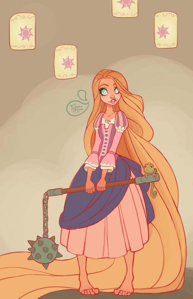 Princesas Disney guerreiras 24