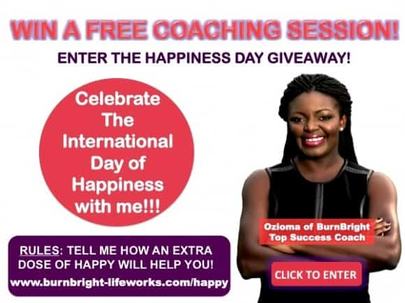 BurnBright Happiness Giveaway