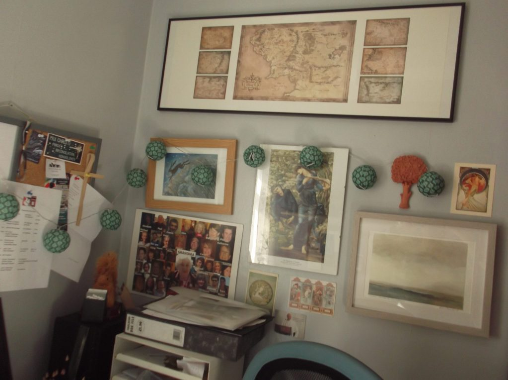study wall with pictures