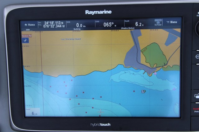 Our Navionics Gold electronic chart isn't helpful at all