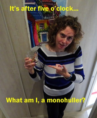 Mel hopes the wonderful monohullers they have met are the sporting type