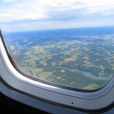 Chicagoland from above.  Can you see Molly Ringwald?