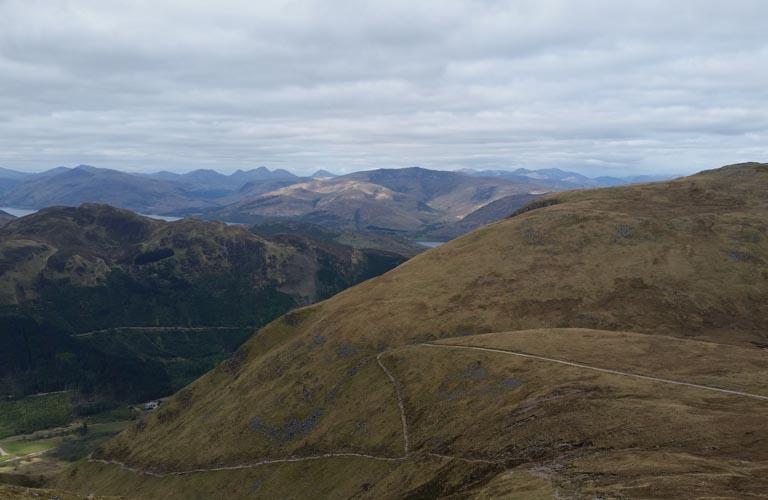 Ben Nevis Serpentinen Bergsteigen Schottland