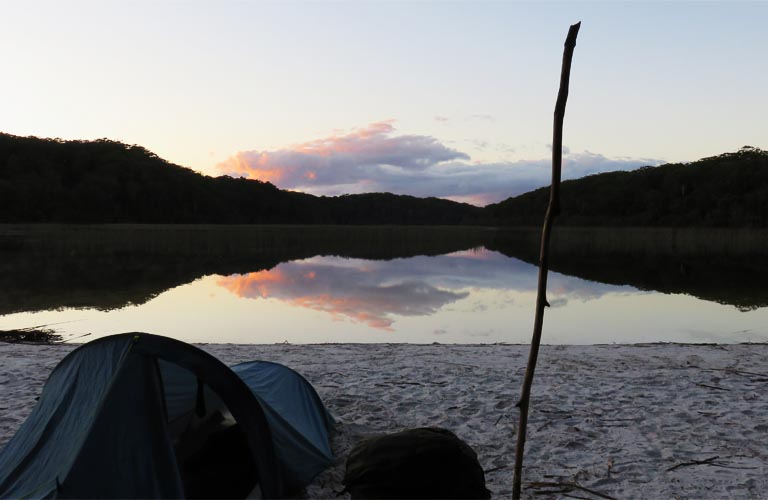 lake-garawongera-fraser-island Trekking Australien