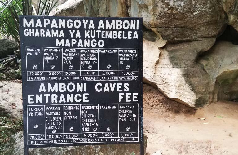 tansania-amboni-caves-Eintritt