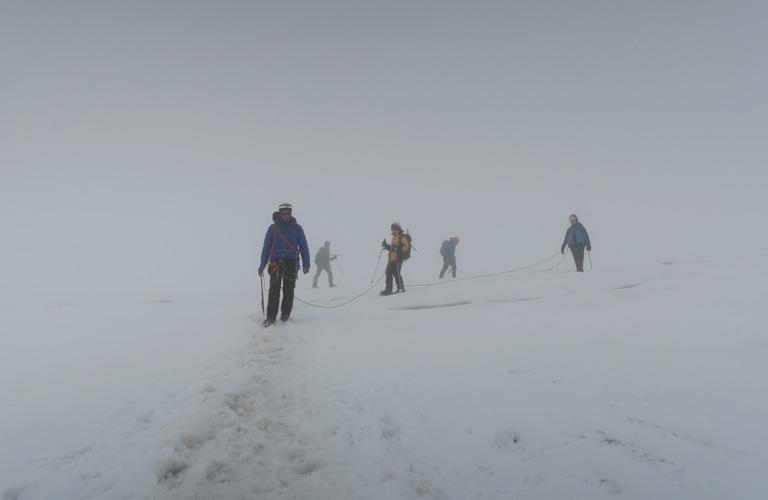 Camp 3 Kasbek Bericht Mount Kazbek Bergsteigen Kaukasus Georgien