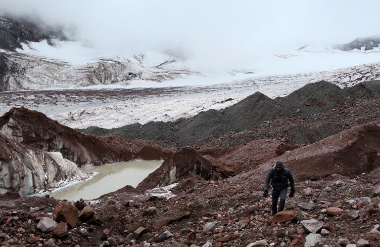 Gergeti Gletscher Bergsteigen Kasbek Mount Kazbek Georgien Kaukasus Reisebericht