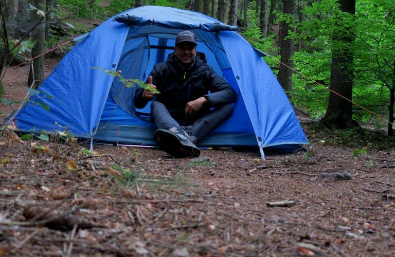 Zelten Malerweg Sächsische Schweiz Wandern Trekking Tipps