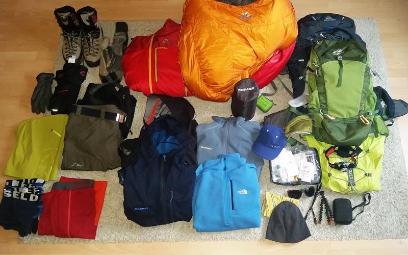 Kletterausrüstung Packliste : Packliste island peak m inkl mount everest base camp trek