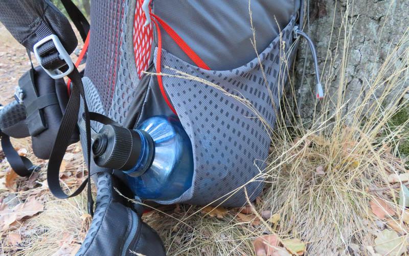 mesh pocket Gregory Optic 58 Rucksack Testbericht