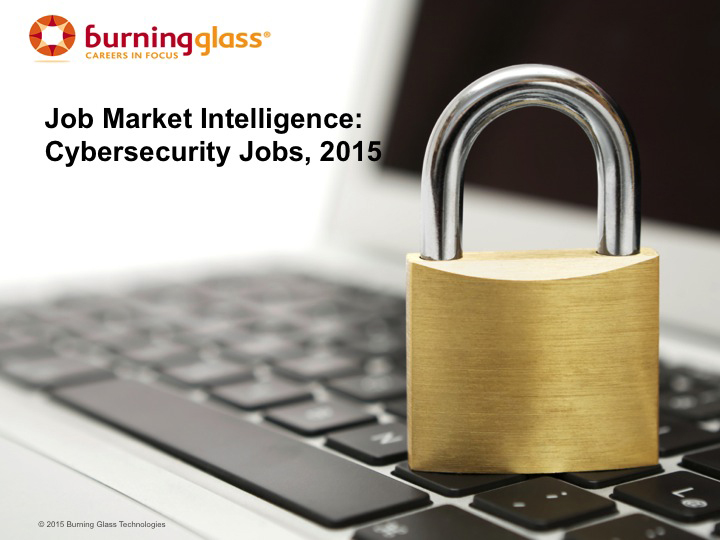 Cover: Cybersecurity Jobs, 2015