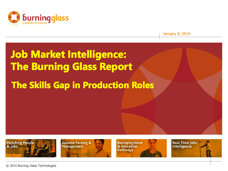 Report Cover: The Skills Gap in Production Roles