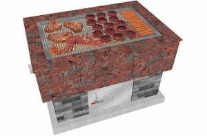 BrickWood Box Smoker Grill